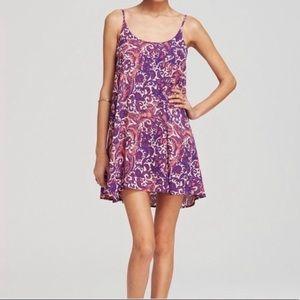 Free People Emily Dove Purple Orange Slip Dress